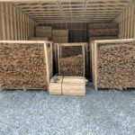 lumber stacked and ready to go